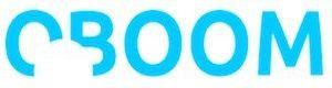 Blaues Logo mit weißem Kreis